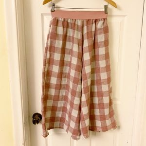 L'atiste by Amy | Flowy Plaid Culottes Pants | S